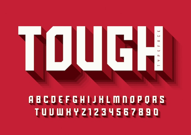 The tough bold display font design