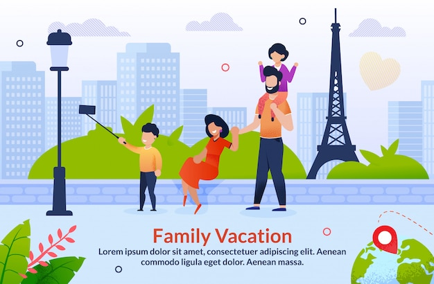 Tour abroad on family vacation motivation