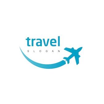 ツアーと旅行会社のロゴテンプレート