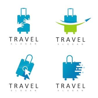 ツアーと旅行のロゴデザインテンプレート
