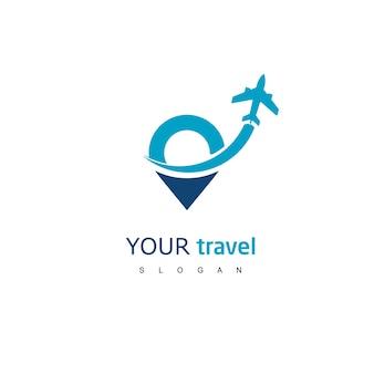 ツアーと旅行のロゴテンプレート