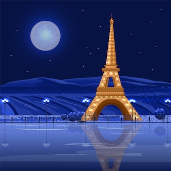 Tour eiffel paris at night