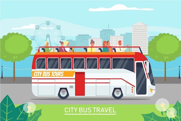 Tour excursion tourist journey by bus
