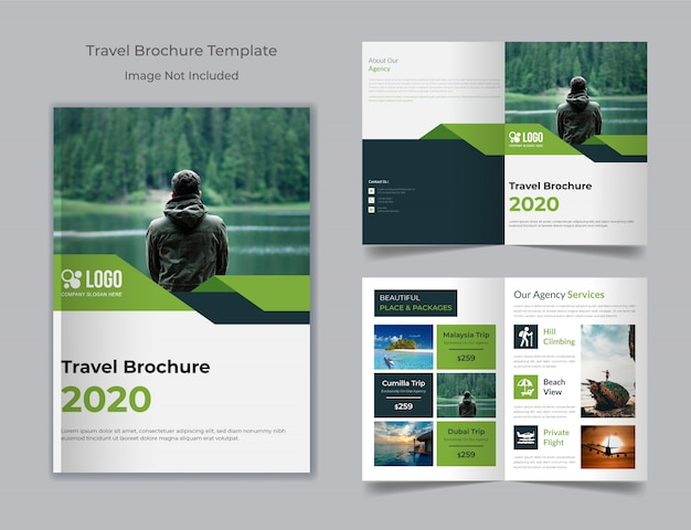 Tour and travel agency brochure