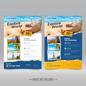 Tour and travel flyer design template