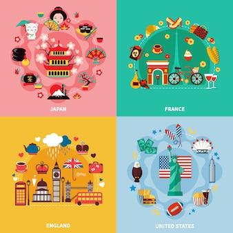 Туризм 2x2 концепция дизайна