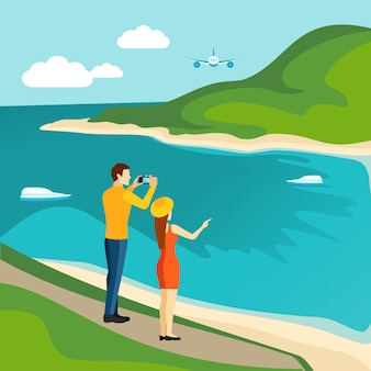 관광 국가 여행 관광 포스터