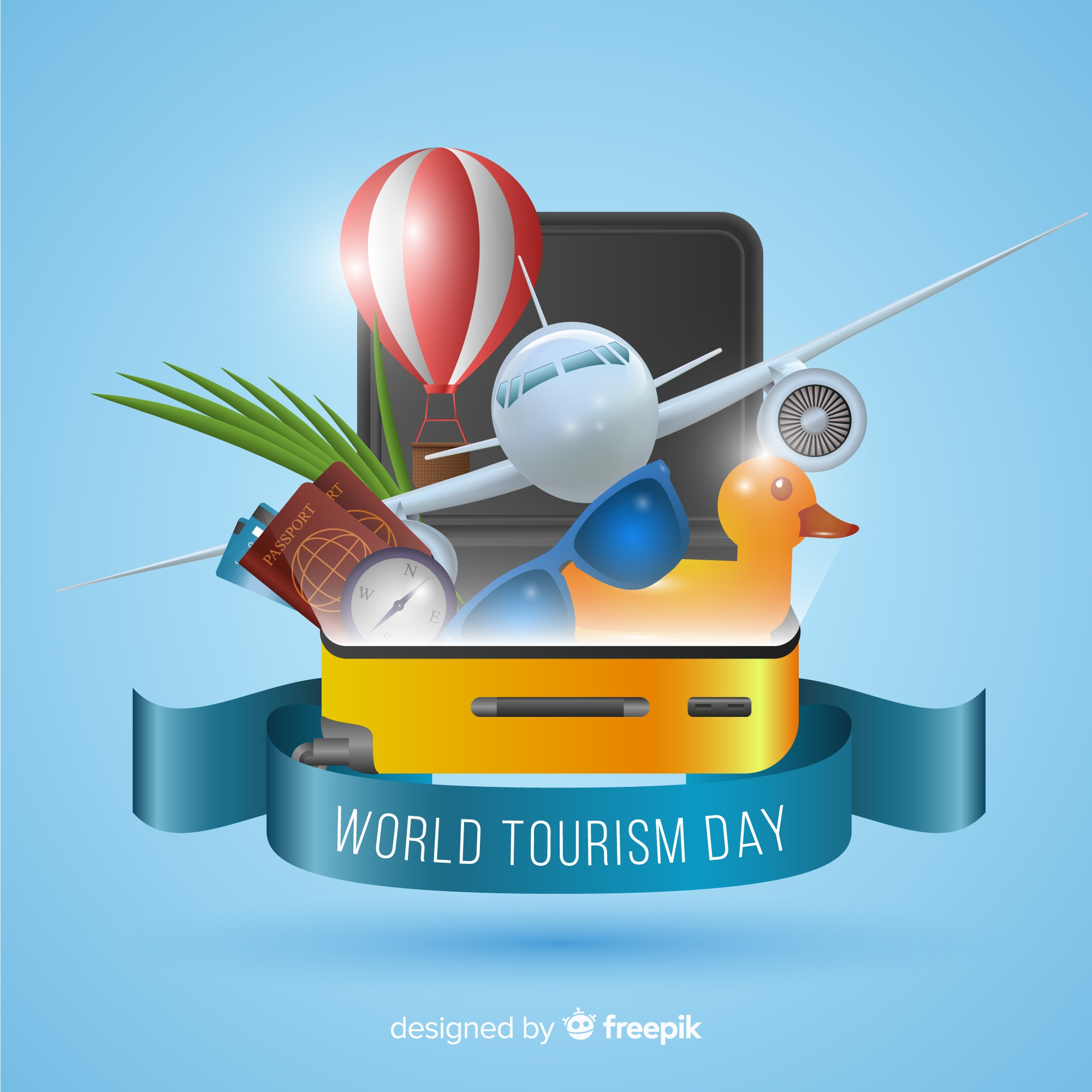 Tourism day background in realistic style