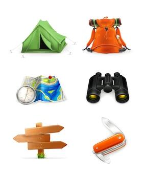 Tourism icon set,