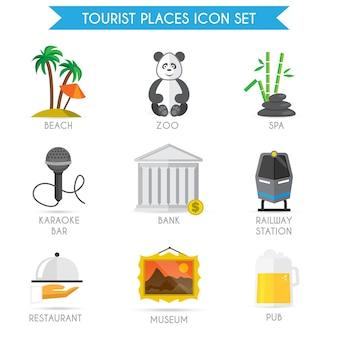 Tourism places icons