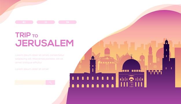 Дизайн макета веб-баннера туристических достопримечательностей