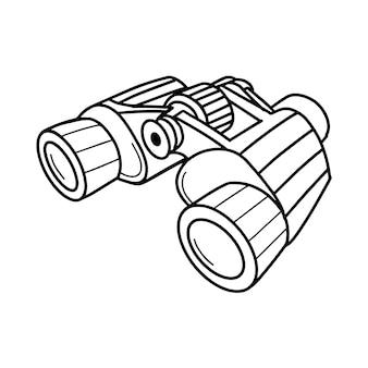 Tourist binoculars isolated on a white backgroun