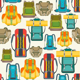 Tourist camping backpack pattern.