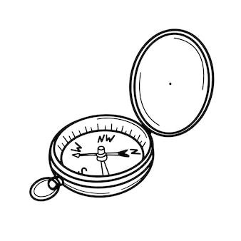 Tourist compass for orientation on the terrain
