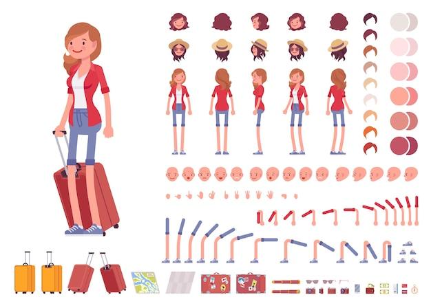 観光女性キャラクター作成セット