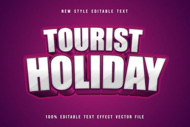 Редактируемый текстовый эффект туристического отдыха в мультяшном стиле