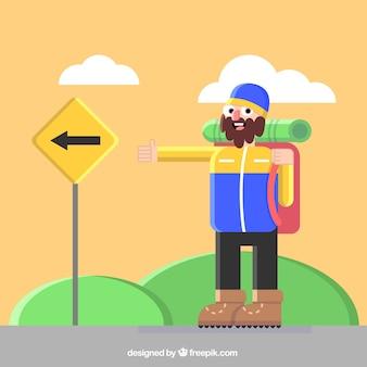Туристический мужчины иллюстрация
