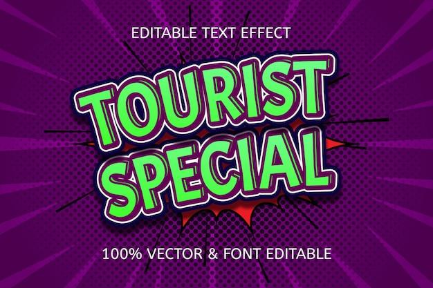 Редактируемый текстовый эффект в стиле комиксов в туристическом стиле