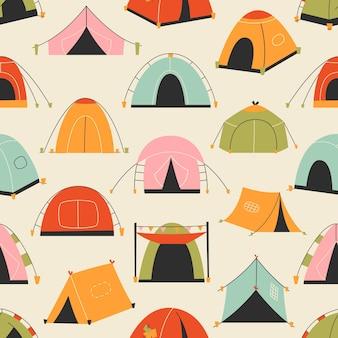 Туристические палатки. шаблон.
