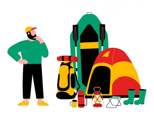 Tourist, travel preparation.