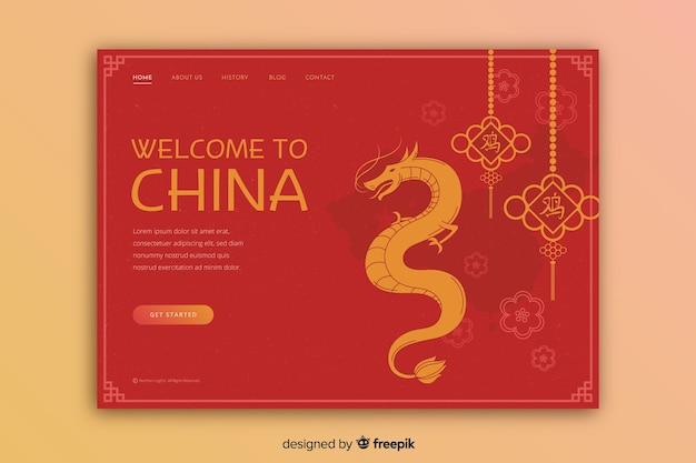 Touristic invitation to china template