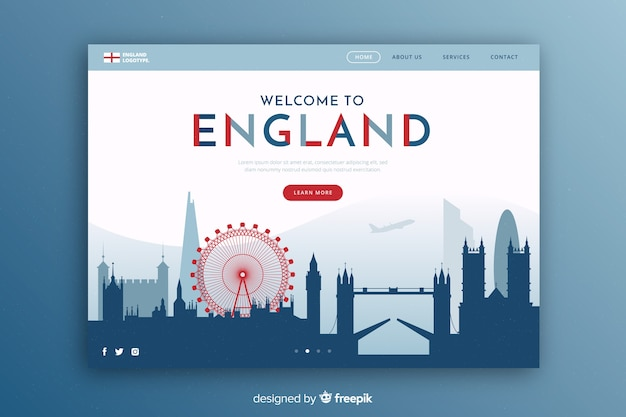 Touristic invitation to england template