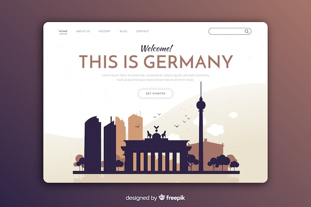 Touristic invitation to germany template