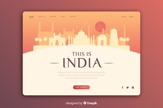 Touristic invitation to india template