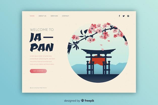 Touristic invitation to japan template