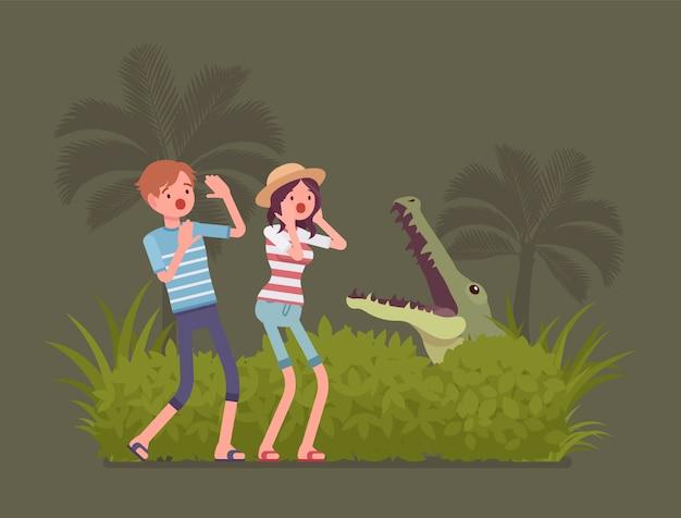 Туристы затерялись в дикой природе