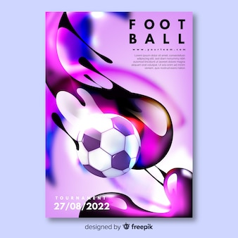 Tournament football poster template