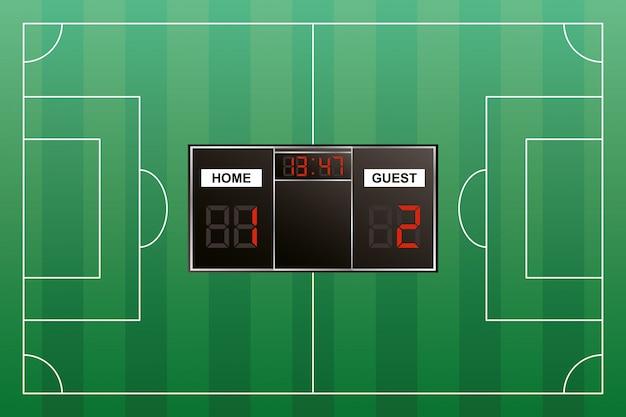 Tournament scoreboard digital isolated icon