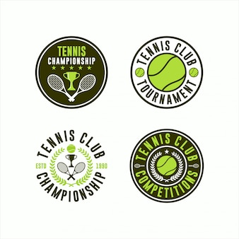 Tournament tennis club logo collections
