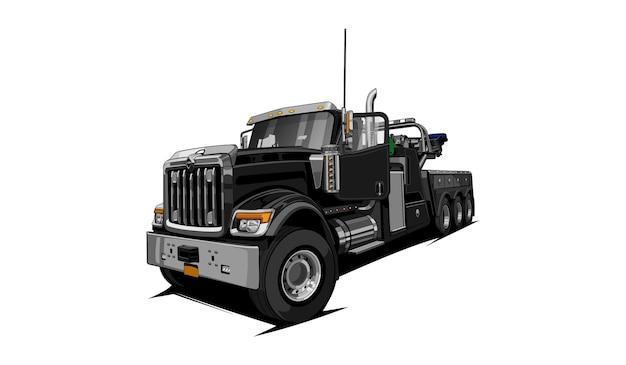 견인 트럭 벡터