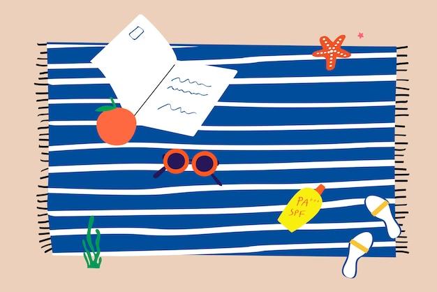 Asciugamano su una spiaggia