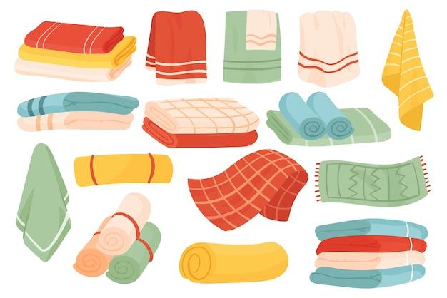 布製ハンドタオルとバスクロスタオルを備えたバスルームセットテキスタイルコレクション用タオル