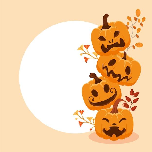 Tower of halloween pumpkins