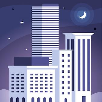 아파트와 오피스 빌딩, 도시 풍경의 타워