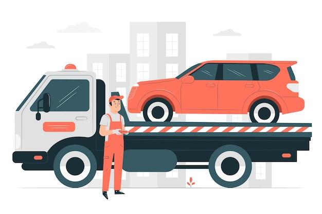Towingconcept illustration