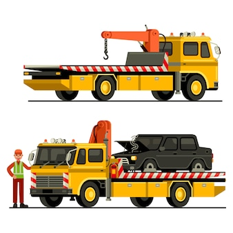 Towing truck car service