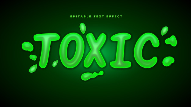 Toxic 3d text style effect