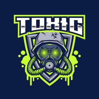 Шаблон логотипа toxic esport