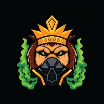 Toxic monkey head illustration isolated on black