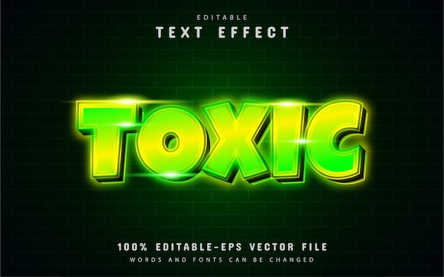 Toxic neon text effect