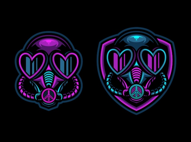 Toxic poison mask esport logo