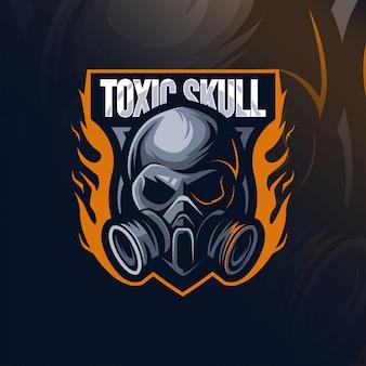 Логотип талисмана из токсичного черепа