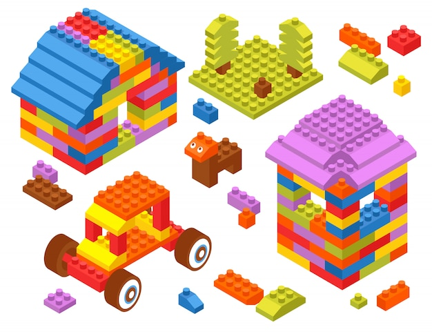 Toy constructor isometric blocks