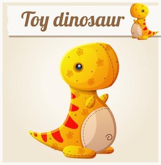 おもちゃの恐竜。漫画イラスト