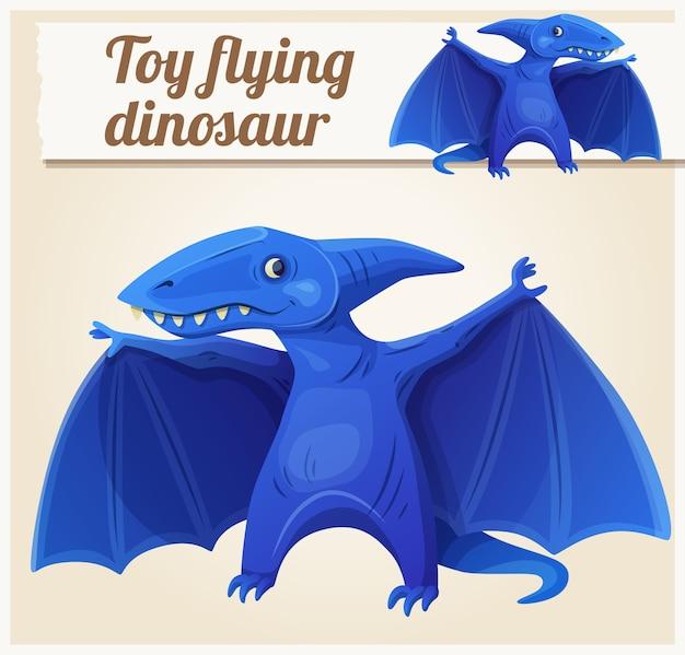おもちゃの飛行恐竜7。漫画イラスト。子供のおもちゃのシリーズ