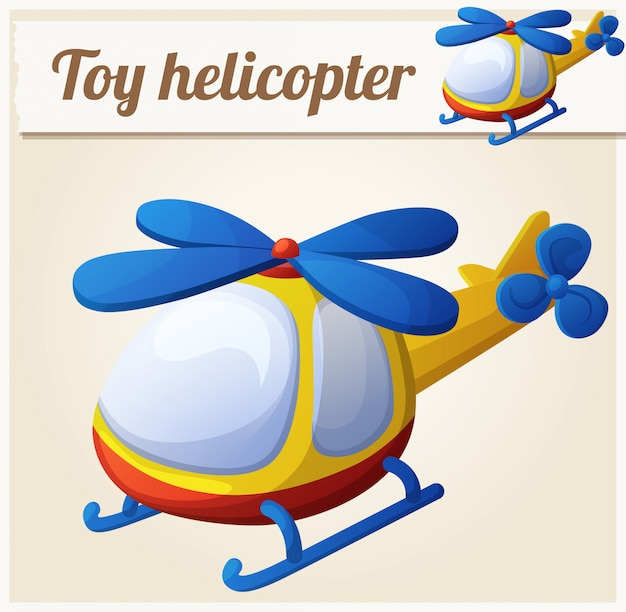 Toy helicopter. cartoon vector illustration